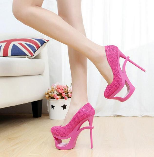Unique design high heel shoes sexy fashion women's summer thin ...