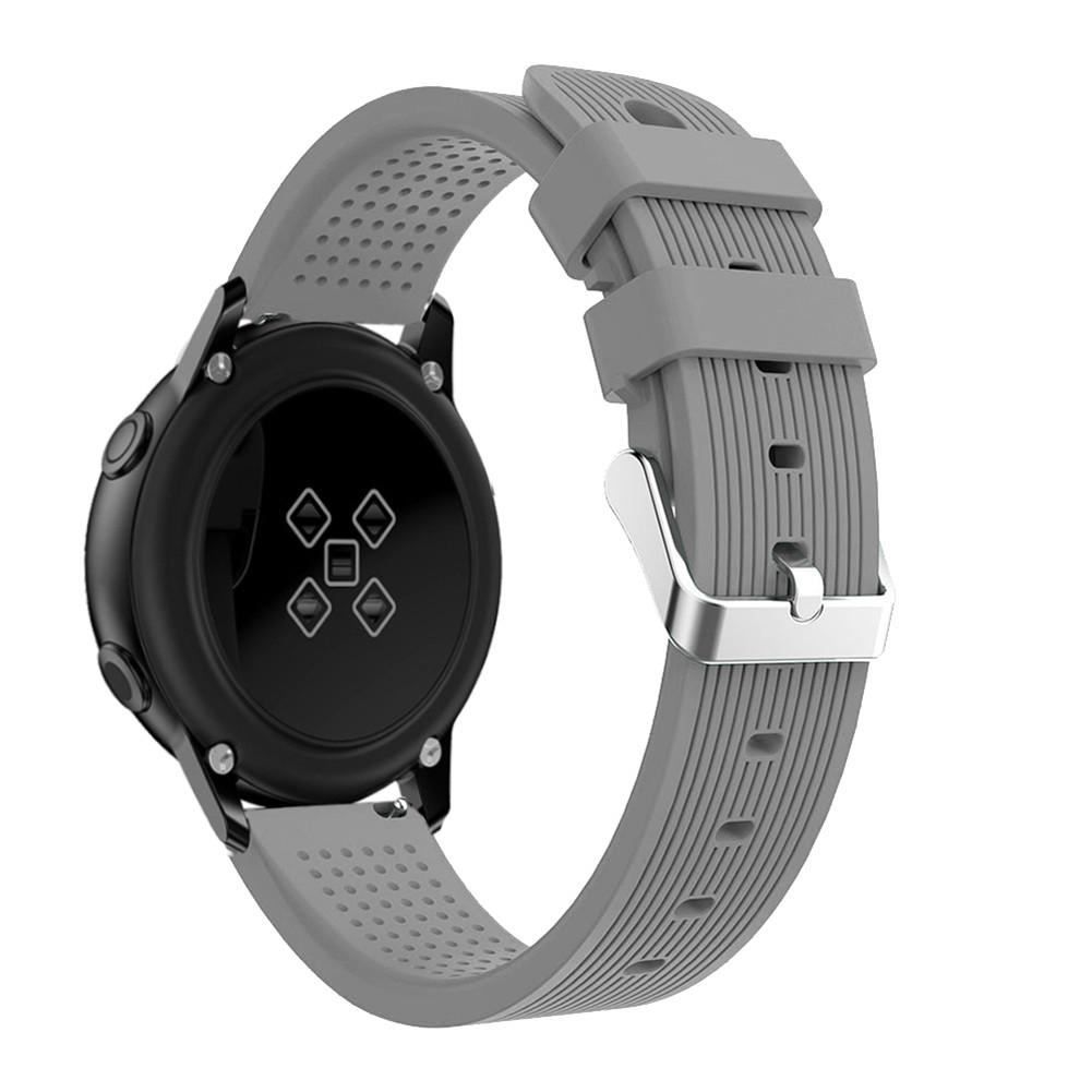 Image 5 - Silicone Watchband Active 20mm Silicone Strap Straight striped Silicone Watchband For Samsung Galaxy Watch-in Smart Accessories from Consumer Electronics