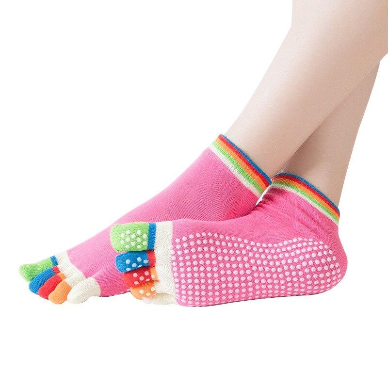 Women Sport Yoga Socks Colorful Five Fingers Socks Gym Pilates Crossfit Fitness Dance Ballet Anti Slip 5 Toe Comfort Cotton Sock