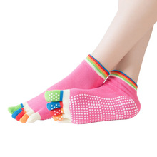 Women Sport Yoga Socks Colorful Five Fingers Gym Pilates Crossfit Fitness Dance Ballet Anti Slip 5 Toe Comfort Cotton Sock