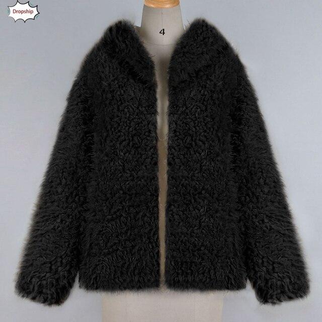 brixini.com - Warm Faux Fur Winter Hooded Coat