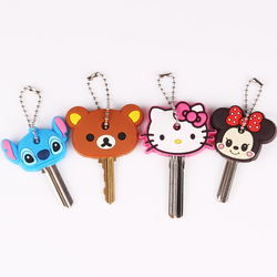 Anime silicone key cap cat minion key chain women bag charm key holder mickey key ring.jpg 250x250