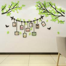 Acrylic Tree Photo Frame Wall Sticker Bedroom Self-sticking DIY Decal Home Decoration(China)
