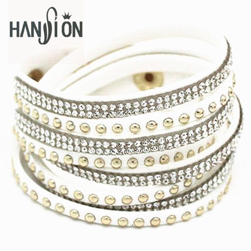3b9f1b59a9f1 XiongHang Multilayer cuero pulsera cristal pulsera del abrigo para las  mujeres marca pulseras y brazaletes joyería al por mayor