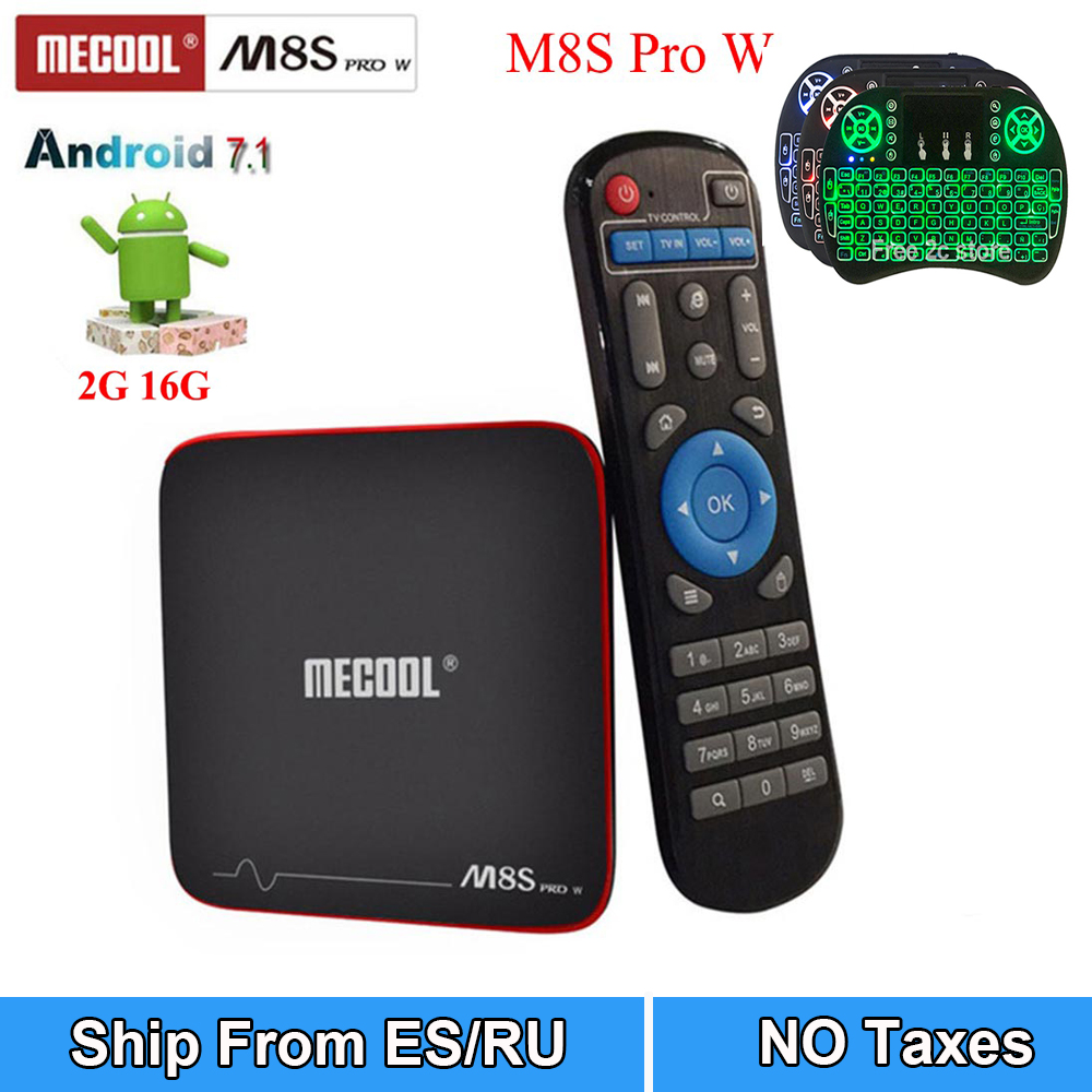 MECOOL M8S PRO W smart Android 7.1 TV Box S905W box Quad core set-top box support 4K Europe Arabic IPTV 2500+TV media player