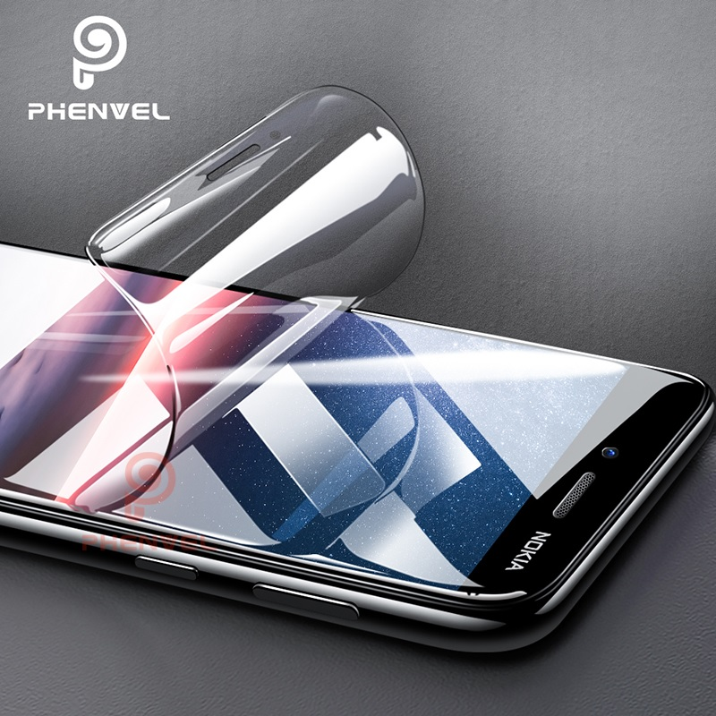 Phenvel slim hydrogel film for <font><b>nokia</b></font> <font><b>3.1</b></font> 5.1 6.1 <font><b>plus</b></font> screen protector flexible <font><b>nokia</b></font> 5.1 <font><b>plus</b></font> <font><b>3.1</b></font> 7.1 3D gel protective film image