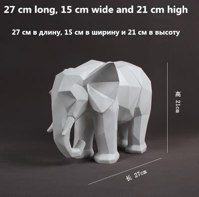 Europeo bianco e nero artigianato elefante, Nordic stile geometrico modello desktop di casa decorazioni, bei regali-in Statuine e miniature da Casa e giardino su  Gruppo 3