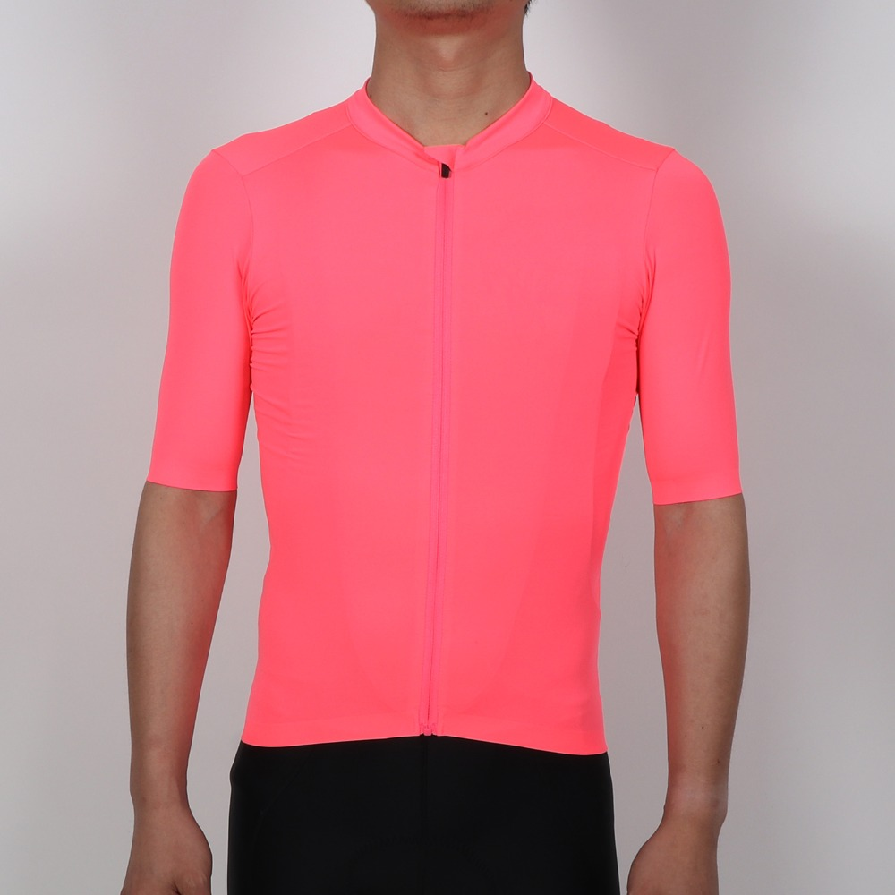 809b8a316 SPEXCEL 2018 ALL NEW High-Vis Pink PRO TEAM AERO Cycling jersey short sleeve  Men