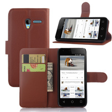 "2016 Wallet PU Leather Vintage Case for Alcatel Pixi 3 4.5"" Flip Book Phone Cover with Card Holder Coque"