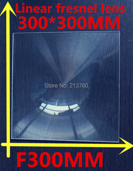 Big linear Fresnel lens Square Lens 300*300 mm Fresnel Lens Focal length 300mm solar collecting
