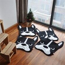 1 шт. 50×40 см ковер с рисунком ковер с бульдогом собака спальный коврики гостиная плюшевые спальня ног pad длинные шерстяные ковры фетр гладкой