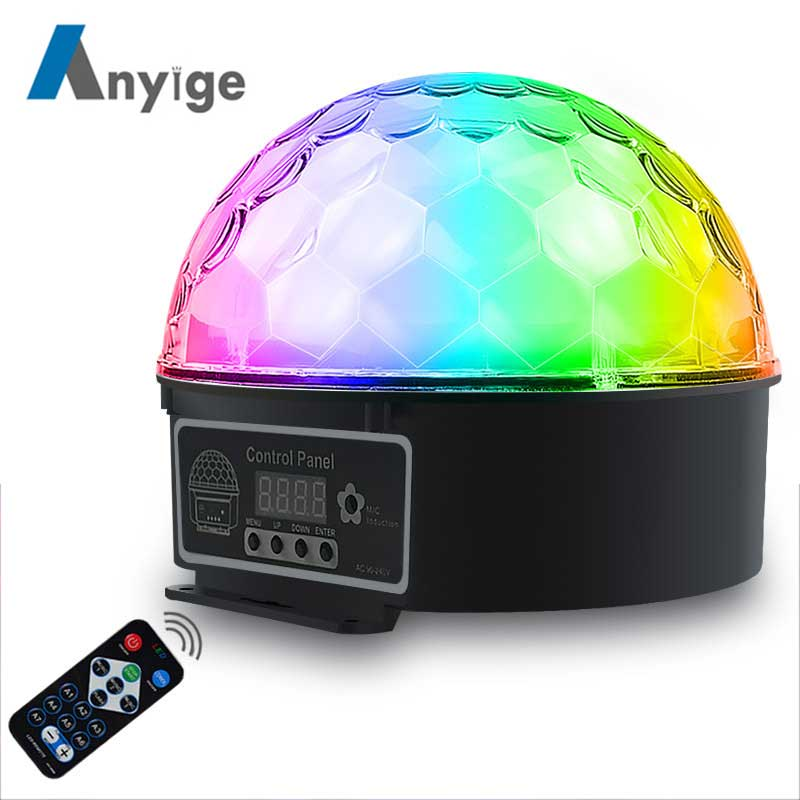 ANYIGE Crystal Magic Ball 9 Colors 13W LED Stage Lighting 3 Sound Control Modes With Remote Control for Club Party KTV BedroomANYIGE Crystal Magic Ball 9 Colors 13W LED Stage Lighting 3 Sound Control Modes With Remote Control for Club Party KTV Bedroom