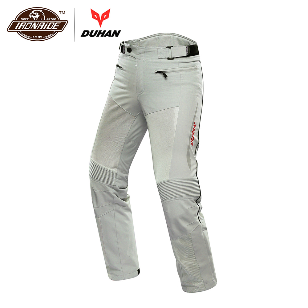DUHAN Motorcycle Pants Men Breathable Moto Pants Trousers Protective Gear Riding Motorbike Motocross Pants for Spring Summer duhan men s motorcycle jeans motorbike riding biker trousers denim motorcycle pants men moto pants knee guards protective gear