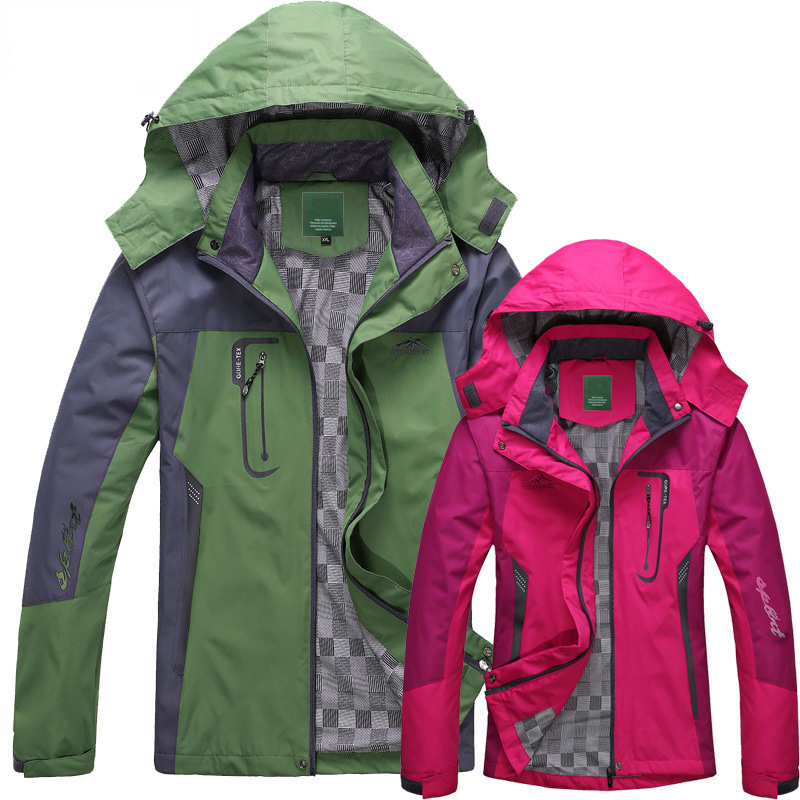 2018 Spring Autumn Winter Women Jacket Single thick outwear Jackets Hooded Wind waterproof Female Coat parkas Clothing 1