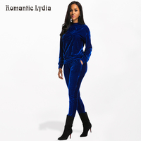 Women Autumn Winter Velvet Set Warm Velour Tracksuit 2 Piece Sets Velours Suit Female Valuable