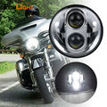 """LED Harley Headlight 5.75"""" Chrome Round Headlamp LED Auxiliary Lamps  High & Low Beam for Harley Davidson Daymaker Projector"""