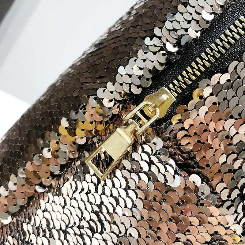 Женский Блестящий рюкзак с блестками большой емкости Mochila Feminina PU кожаный рюкзак с пайетками для девочек дорожные сумки