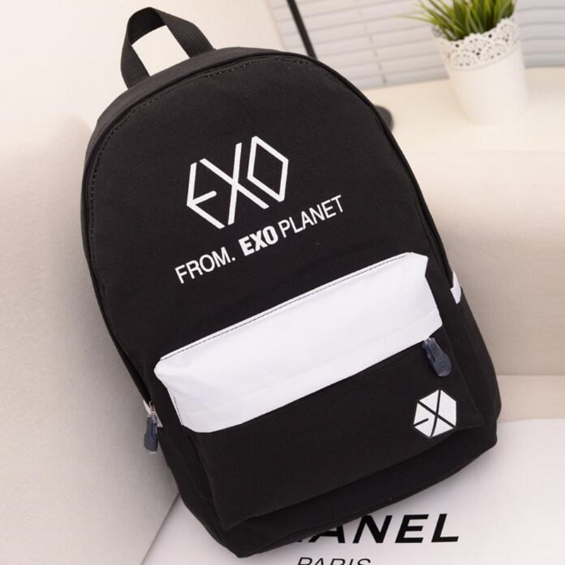2017 Korean EXO Backpack School Backpack For Women Teenager Boys And Girls School Bags Large Capacity Mochila Escolar Rucksack delune new european children school bag for girls boys backpack cartoon mochila infantil large capacity orthopedic schoolbag