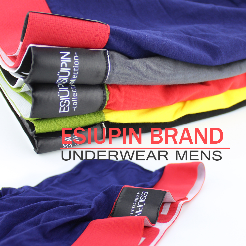 Esiupin горячая продажа   трусы мужские хлопка underwear мужчины cueca боксеры мужские скольжения человек мужчина мальчик шорты мужские боксеры