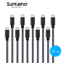Micro USB Cable Fast Charger Cable,Suntaiho 10Pack Nylon Braid USB Cable Data Mobile Phone Cable for Samsung Xiaomi LG Phone