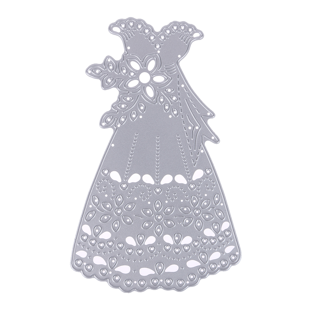 Wedding Dress Pattern Metal Cutting Dies Stencils DIY Template Scrapbooking Card Album Embossing Decor DIY Metal Crafts for Her
