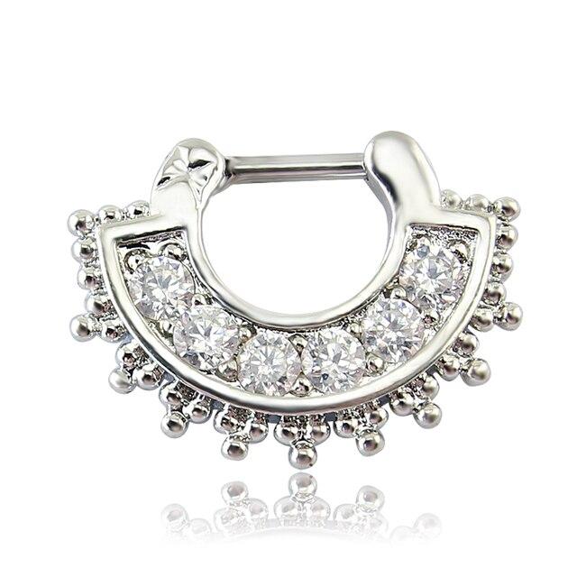 Купить прозрачные циркониевые украшения для тела модные кольца носа картинки