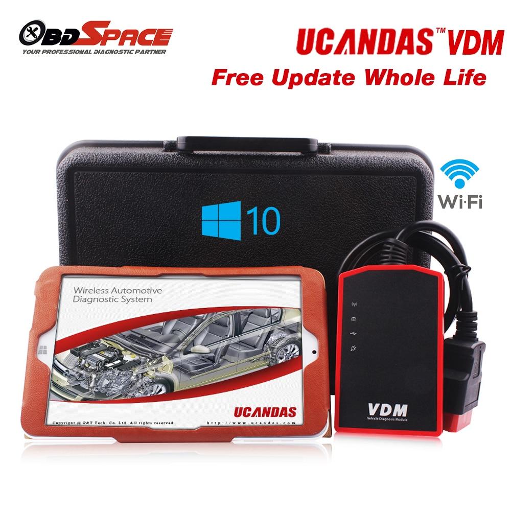 2016 Professional Automotive Scanner VDM UCANDAS 3 9 Wifi Softwares Life Update Free Diagnostic Scanner ferramenta