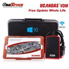 2016 Profesional Explorador Automotor VDM UCANDAS Wifi 3.9 Softwares de Vida Actualización Gratuita De Diagnóstico Escáner ferramenta automotiva