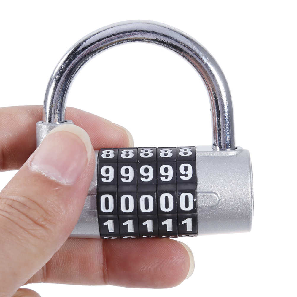 1a96bf5bda2f 4Digit/ 5Digit Password Safety Lock Zinc Alloy Combination Travel Security  Safely Code Lock Combination Padlock Wide Shackle