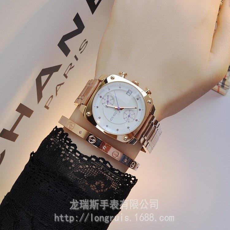 84a1c8b6998b Calidad Superior auténtica moda marca HK guou reloj mujeres impermeable  cuadrado de la aleación del cuarzo relojes de las mujeres del envío gratis