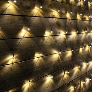 Image 2 - Solar powered Led Net Mesh String Light 1.1x1.1M 2x3M Home Garden Window Curtain Decoration lights for Christmas Wedding Party