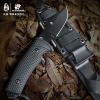 HX Outdoor Survival Knife Brand D2 Steel Blade Fixed Blade Straight Camping Knives Multi Tactical Rubber