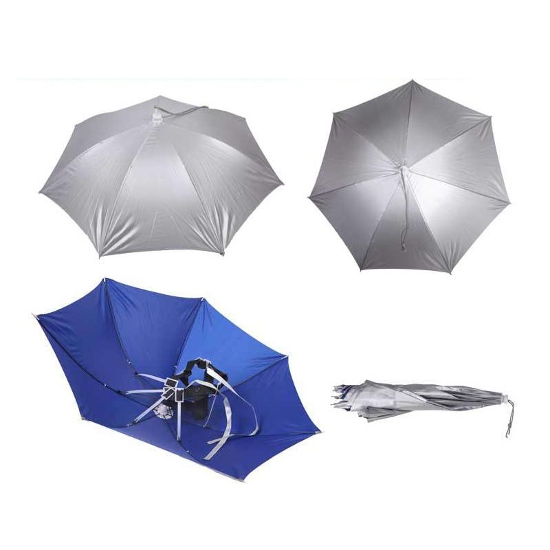Foldable Hands Free Cap Hat Umbrella Hiking Hunting Camping Fishing Hats Outdoor