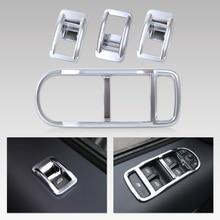 Beler Новый 4 шт. Chrome интерьера, двери, окна переключатель Панель чехол накладка для Land Rover Freelander 2 LR2 2008 2009 2010 2011 2012-2015