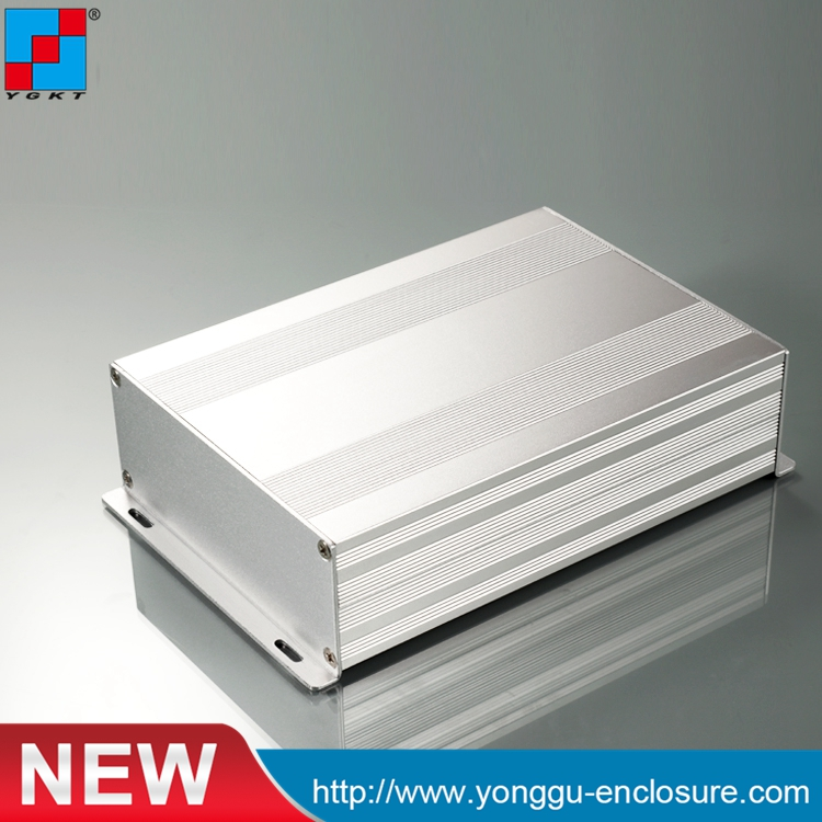 145*54-200/250 (W-H-L) Silver color electronics extruded aluminum enclosure PCB case box 215 52 263 mm w h l aluminum extruded enclosures housing project box case