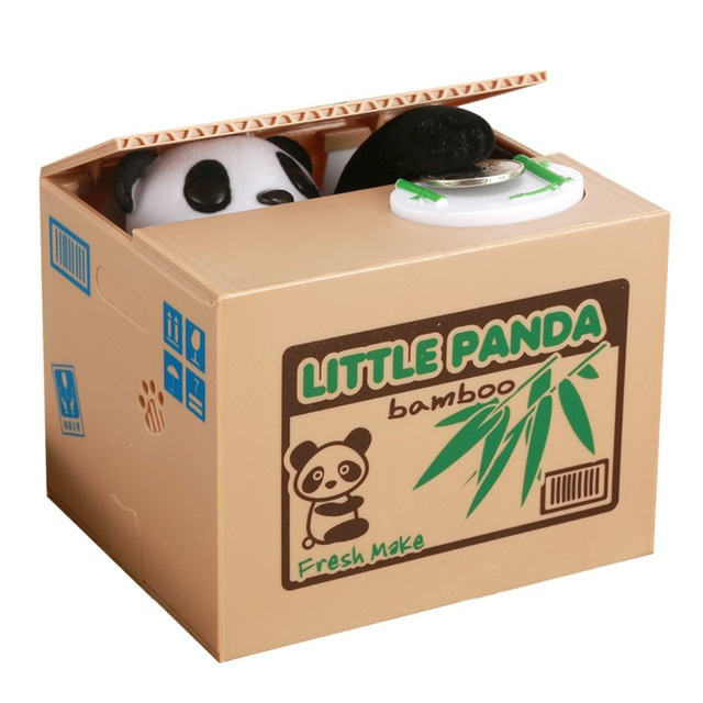 Automatic Stealing Coin Cat Coins Panda Automatic Storage Coin Bank Cat Money Box Moneybox Gifts