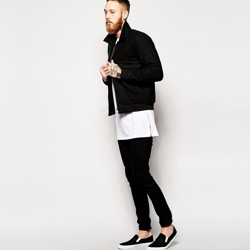 2018 Brand New extra long tee shirt for men hip hop men s longline t shirt  long sleeve tall tees side zipper oversized t shirt-in T-Shirts from Men s  ... d533bd0a888
