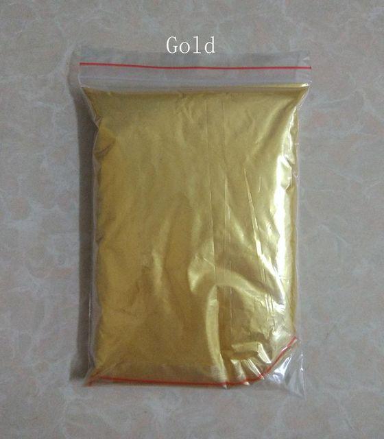 50g عالية الجودة الميكا مسحوق ذهبي الصباغ لديي الديكور الطلاء مستحضرات التجميل المعدنية الذهب الغبار الصابون صبغ