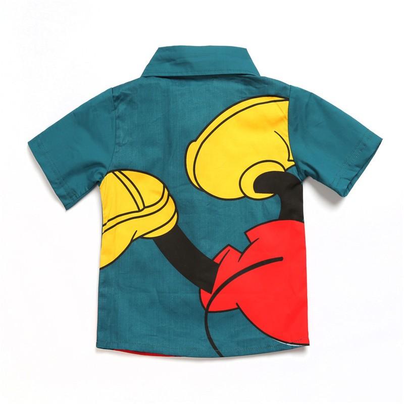 2017 kids Clothes Children Mickey Clothing Sests Costumes for Roupas Infantis Menino Disfraz infantil Boys Shorts +Pants Suits 04