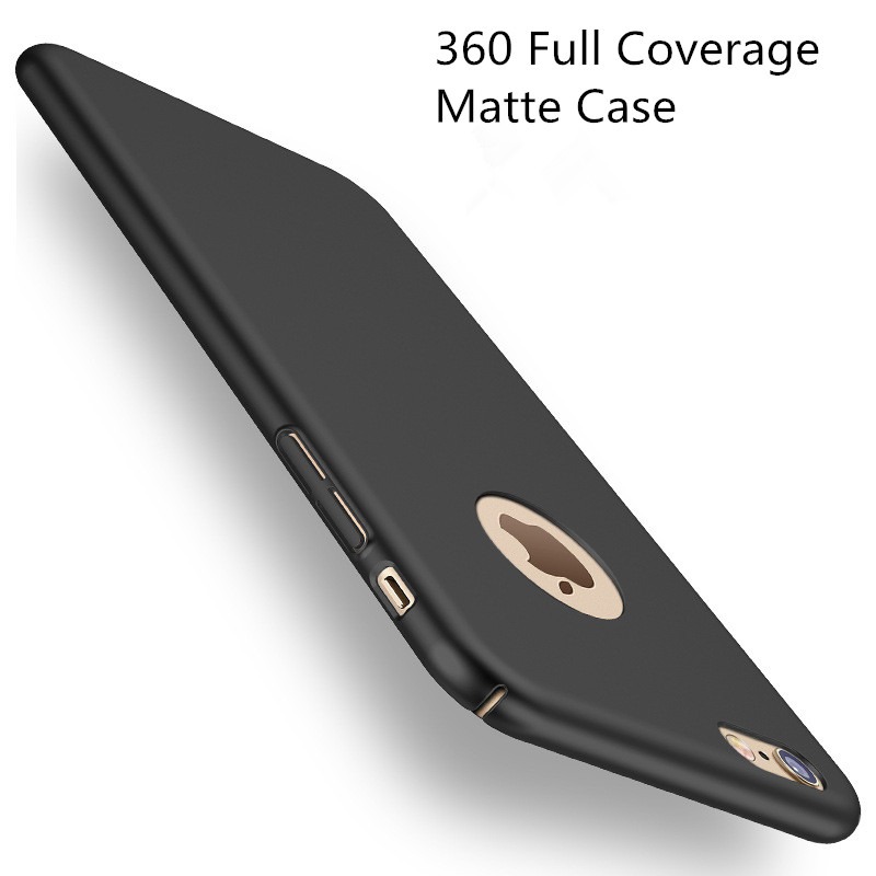 Fashion Hard Matte Case For iPhone 6 Cases 5s 5 SE 6s 6 Plus iPhone 7 Case Plus 360 Full Cover Plastic Phone Cover screen film