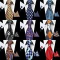 RBOCOTT 100% Seda Jacquard Woven Para Hombre Corbata Lazo Rojo de Paisley Corbatas Hanky Gemelos Set Clásico Para El Banquete de Boda de Empresas regalos