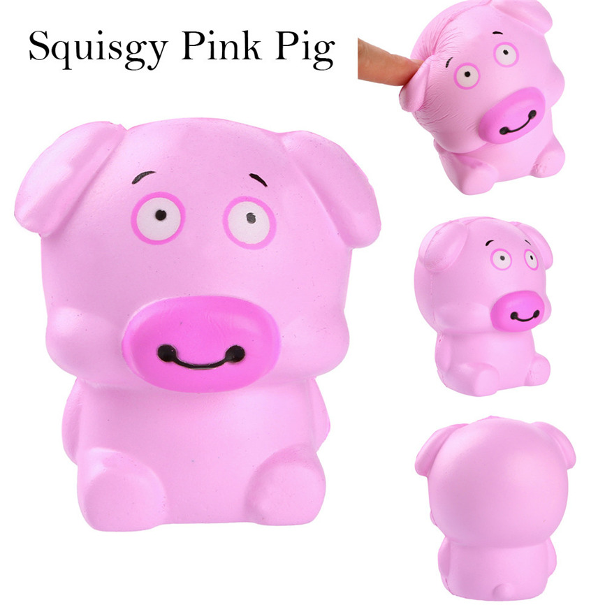 Super Squishy Smiley Pink Pig Scented Charm Slow Rising Squeeze Stress Reliever Toy 10*7*7cm Dropshipping May#5