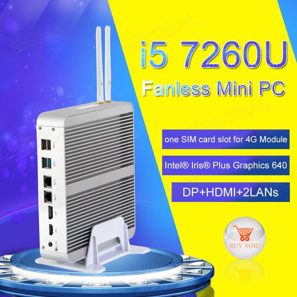 [I7 8550U/7560U i5 8250U/7260U] безвентиляторный мини-ПК с Windows 10 Pro Micro компьютер 2 * DDR4 Msata M.2 SSD ТВ коробка 4 K HD качество htpc-система, 300 м Wi-Fi