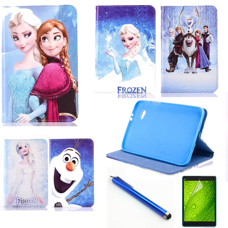 HOT Fashion PU Leather cover case for Samsung Galaxy Tab 2 7.0 P3100 P3110 P6200 P6210 case+Stylus + screen protector
