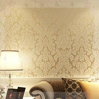 Non Woven Modern Wallpaper Glitter Wallcovering Metallic Wall Paper