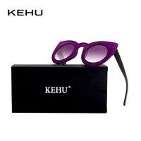 KEHU Fashion Women Round Cat Eye Velour Frame Sunglasses K9142