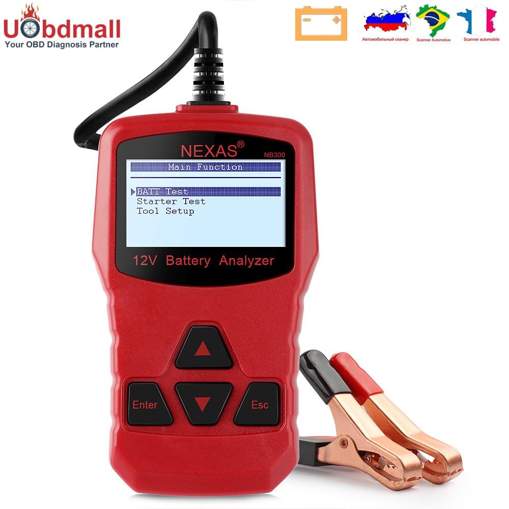 Prix pour D'origine Nexas NB300 Batterie De Voiture Testeur 12 V 220AH Multi-Langues Au Démarrage en Charge L'analyse Du Système MAUVAIS Cellulaire Voiture D'essai outils