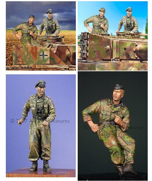 Смола Комплекты 1/35 Ваффен СС Танкового Экипажа Комплект включает 2 солдат Неокрашенный Комплект Смола Модель Бесплатная Доставка