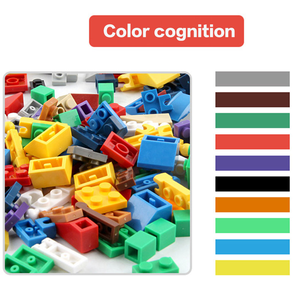 1000 Pcs/Set Children Toy Bulk Building Blocks Mixed Shape Stack Block Baby Kids Educational Toys Gifts  YH-17 super cool 115pcs set forklift trucks assembly building blocks kits children educational puzzle toys kids birthday gifts