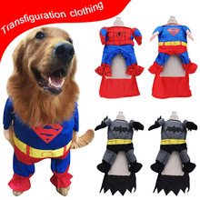 Superhero Cosplay Dog Clothes For Small Dogs Winter French Bulldog Jacket Standing Dog Halloween Costume  Chihuahua Pet Clothes